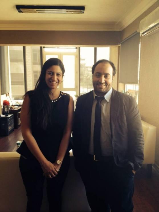 The meeting at MODE PR in Amman , Jordan (MAY 2014)